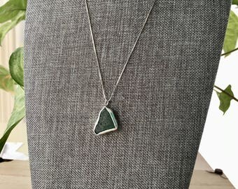 Green Sea Glass Necklace (Italy)
