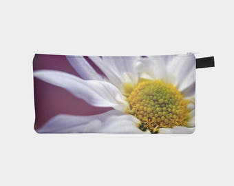 Pencil Case, Flower Pouch, Pencil Pouch, Make Up Bag, Daisy Pouch, Small Floral Bag, Zipper Pouch, pencil bag, Cosmetic Bag, Small Pouch