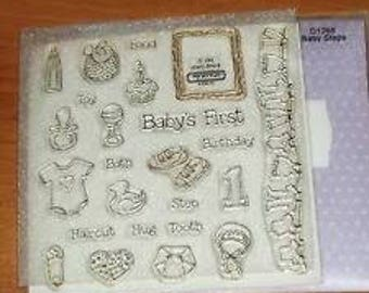 My Acrylix Stamp Set D1266 Baby Steps Close To My Heart - New - Use For Scrapbooking Paper Crafting - Card Making Retired Hard To Find