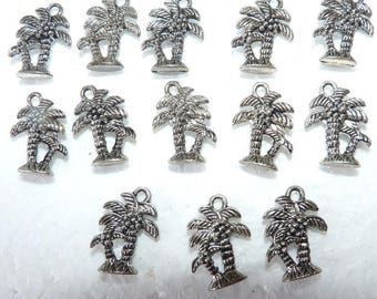 12 charms Palm tree pendant exotic coconut for exotic creation for spring jewelry was