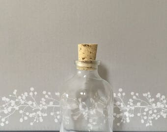 90 Miniature Empty Glass Bottles Miniature Demijohn with corks
