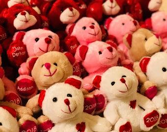 Valentineu0027s Day Bear, Valentine Bear, Personalized Bear, Plush Bear, Pink  Bear,
