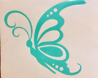 S.O. Decal. Butterfly decal. Car deals. Vinyl stickers. Window decals