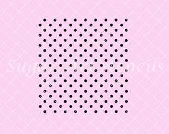 Polka dot stencil small 22263