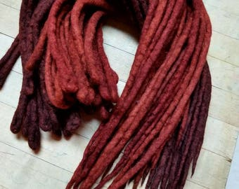 Wool Dreadlocks Set of 30 Dreads  Dread Extensions