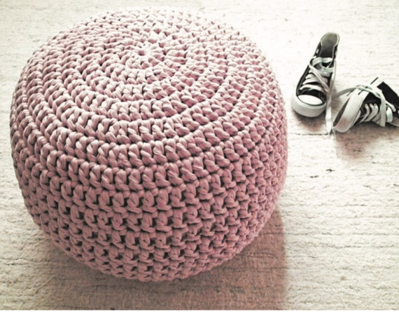 blush pink ottoman pouf nursery footstool floor cushion. Black Bedroom Furniture Sets. Home Design Ideas