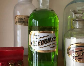 Antique Apothecary Bottle F.E. Euonym.