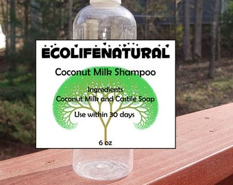 6 oz Natural Coconut Milk Shampoo