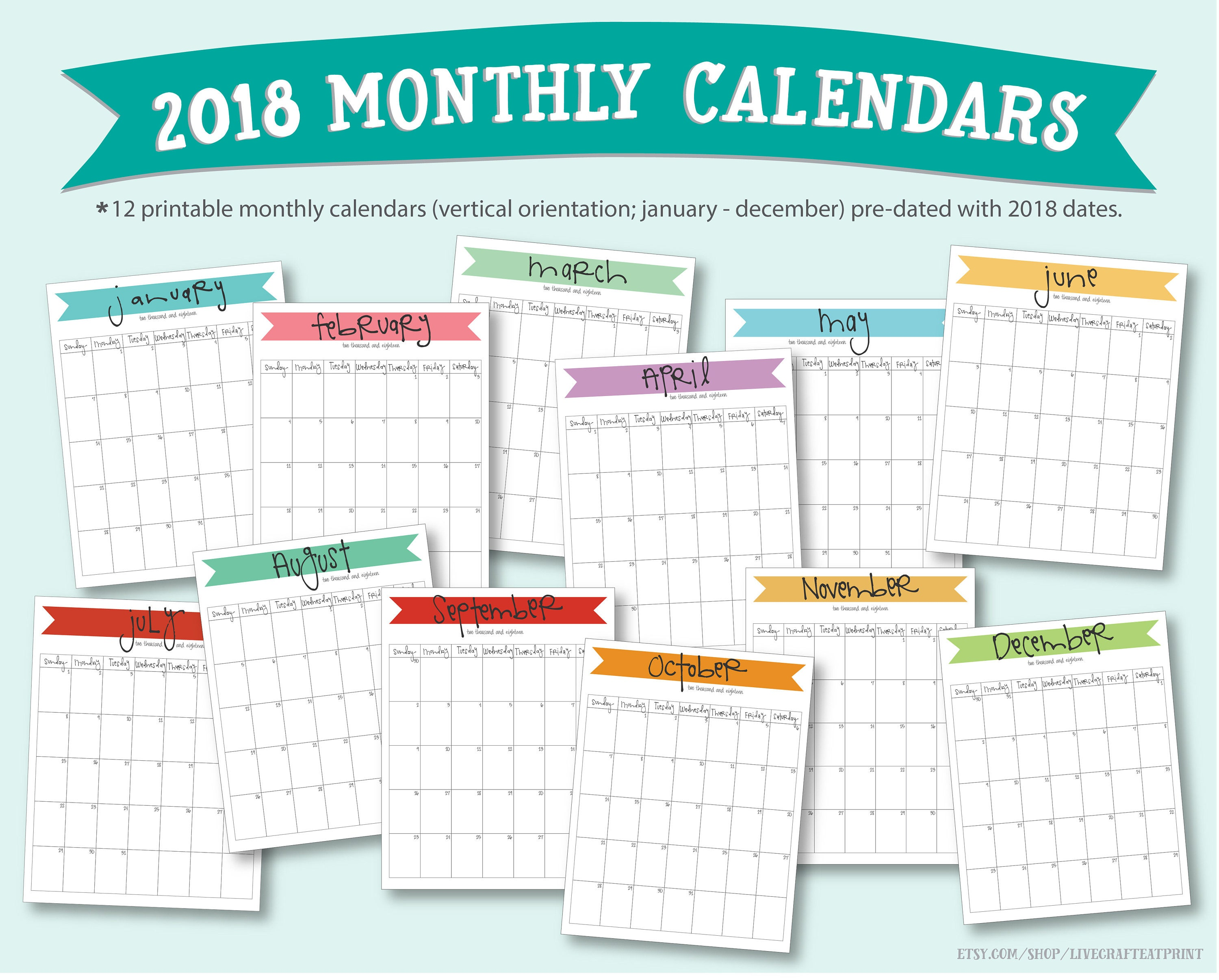 Calendar Pages Vertical : Printable monthly calendars portrait vertical