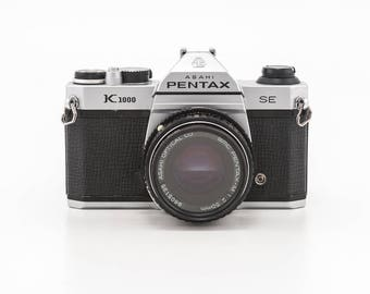 Pentax K1000  SE (Special Edition) 35mm film camera with 50mm F1.4 Prime Lens - great working student camera Ready to shoot