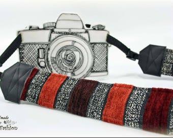 Camera strap, camerastrap, DSLR, retro, red
