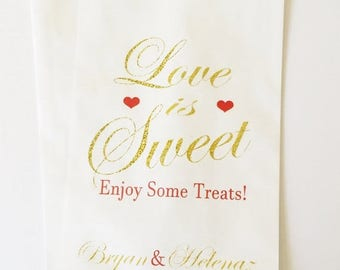 ON SALE Candy Buffet Bags, Wedding Candy Buffet Bags, Lolly Bags, Party Bags, Favor Bags, Treat Bags