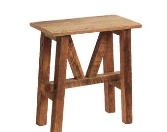 Reclaimed Wood Side Table - Farmhouse Accent Table - End Table - Barn Wood
