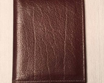 Vintage Pearse Leather Water Buffalo Wallet