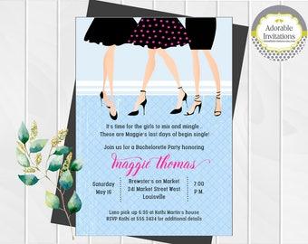 Bachelorette Party Invitation | Girls Night Out Invitation | Ladies Night Out Invitation | Little Black Dress Invitation | Printable