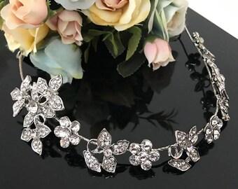 wedding headpiece, Bridal Headband, Rhinestone Headband, Hair Tiara, Bridesmaid, Hair Accessory,Prom Tiara A104