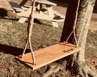 Fly High Extra Large Tree Swing, Customized Swing for kids, Family Housewarming Gift, Outdoor Toy for Boys and Girls, Free Shipping