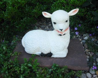Rare SHEEP Blow mold -lamb blow mold -garden decor -Easter blow mold -lawn decor -lawn ornament -yard ornament- Union Products- 1960s