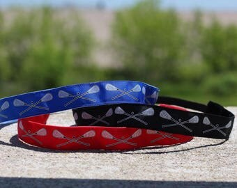 Girls Lacrosse Headbands for Girls - Athletic Headband Adult Lacrosse Gifts - Choice of Colors
