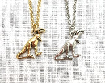 Dinosaur Necklace, T Rex Gifts for Teenage Girls, Fun Charm Necklace, Geeky Jewelry, Geekery, A0150