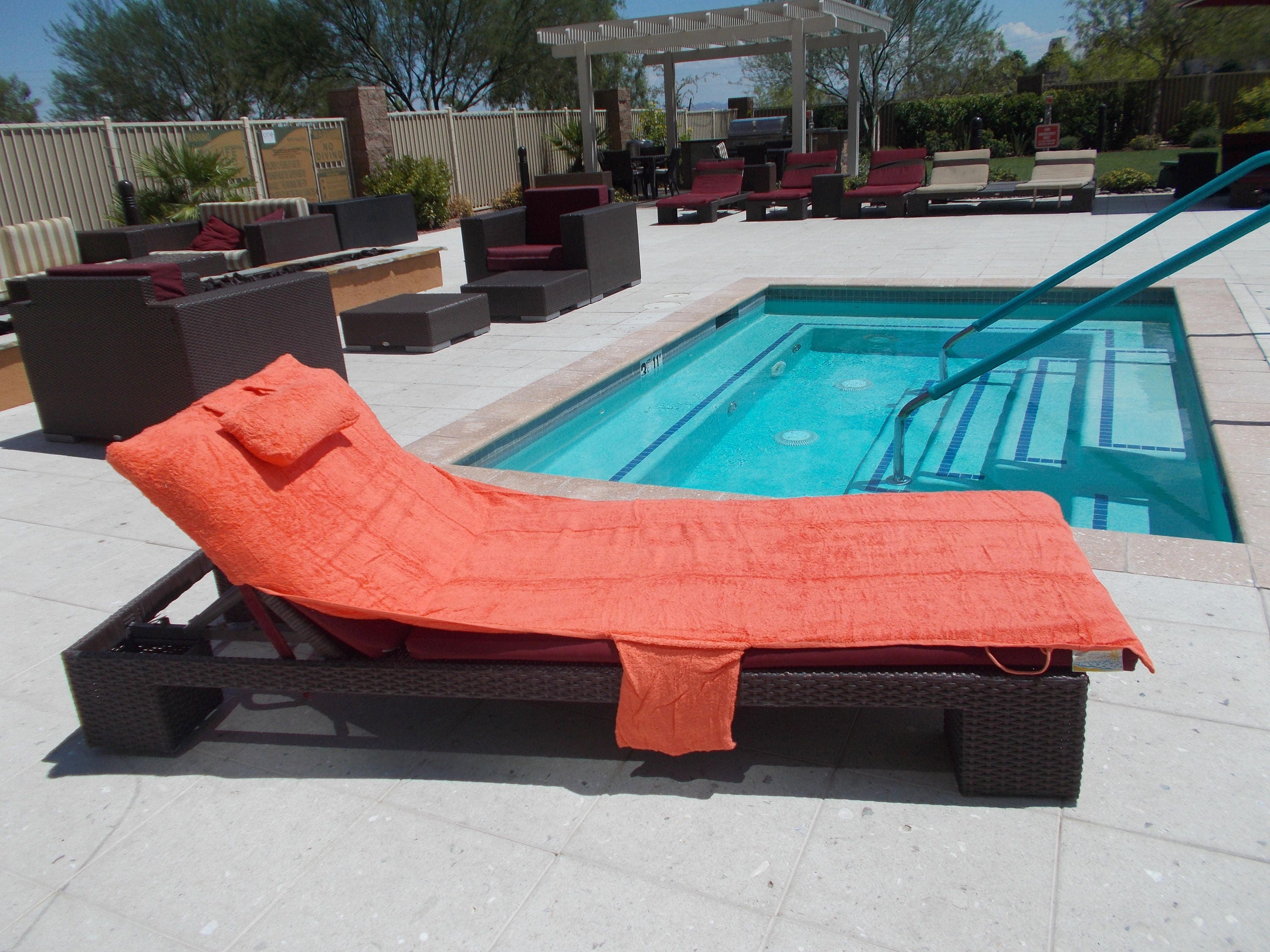 Personalized Sun Beach Pool Lounge Chair cover