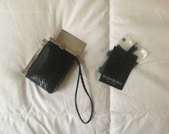 Tom Ford for YSL snakeskin leather cigarette case w/lighter