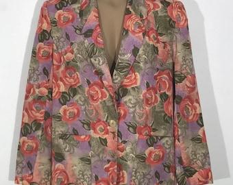Pendleton Country Sophisticates Vtg Blazer Jacket Floral Size 10