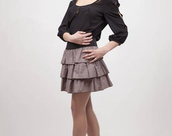 blouse long sleeve jumper and cuts