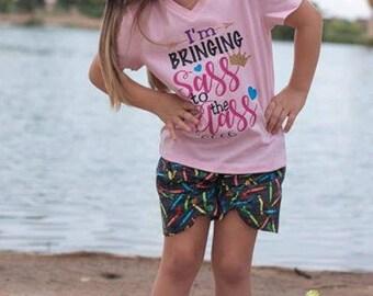 I'm Bringing Sass to the Class shirt, Kindergarten shirt, Preschool shirt, School shirt, Back to School, first grade shirt, second grade