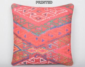 orange accent pillow orange floor pillow orange sofa pillow orange pillow case orange flower pillow orange rustic pillow kilim pillow 251-40