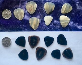 Handmade, Musk Ox/various horn, Guitar Picks