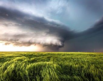 Landscape Photography, Nature Photography, Landscape, Kansas, Thunderstorm Art, Landscape Print, Wall Art, Storm Photography, Fine Art Print