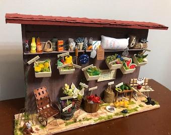 Mini market. Colmadito. Artesania/Artesan.  Wood work. Miniature houses.  Casitas de Puerto Rico. Mexico. Christmas gift.  Regalo de Navidad
