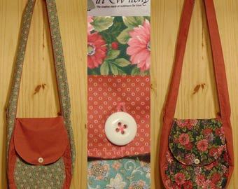 Li'l Witchy Flowers-1, handbag, purse, sling bag, cotton, handwash