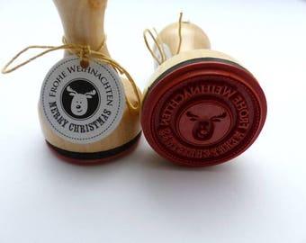 Stamp Merry Christmas Merry Christmas Moose