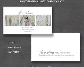 Photography Business Card Template for Photographers, Business Card Editable Instant Download, Business Card Wedding, bc007