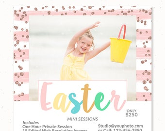 Easter Mini Session Template, Easter Marketing Board, Photography Marketing Template, Easter Template Photography, Easter Photography, m213