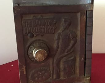 Kenton Bank of Industry Safe Cast Iron Bank