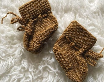 Infant Knitted Baby Booties