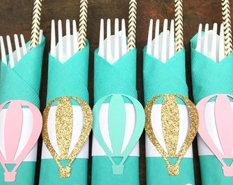Hot Air Balloon Party, Hot Air Balloon Decoration , Hot Air Balloon Baby  Shower, Hot Air Balloon Birthday, Party Cutlery, Party Flatware