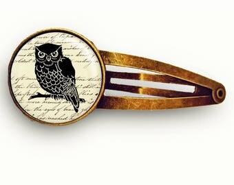 Vintage Owl Hair Clip