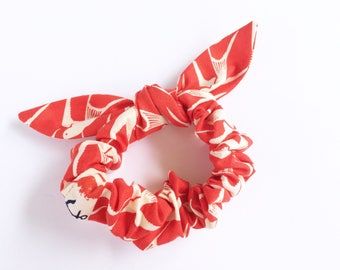 Lucy and Mabs Pinup Bow Scrunchie/ Hair Tie/SS Bluebird