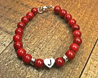 Children's Beaded Bracelet, initial bracelet girl's bracelet, kids jewelry, kids bracelet, child's bracelet, little girl bracelet,