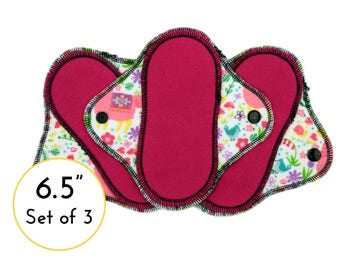 Pantyliner Set -  Cloth Pads - Panty Liners - Cloth Panty Liner Cotton - Cloth Pads Set - Cotton Panty Liners - Thin Pantyliners - Flannel