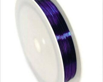 0,4mm copper wire / coil 10 m purple