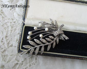 French silver brooch 1930's