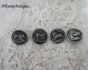 Antique button x 4 for the collector