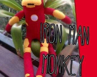 Iron Man sock monkey