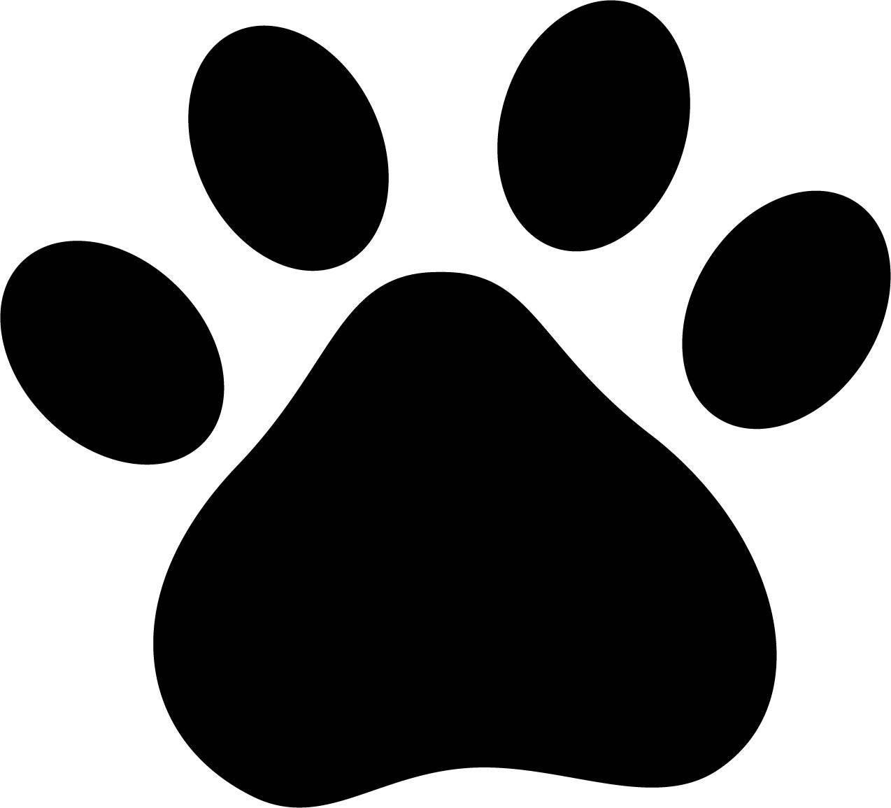Download Paw Print SVG File Dog Cat Pet Animal Silhouette Cameo Cricut