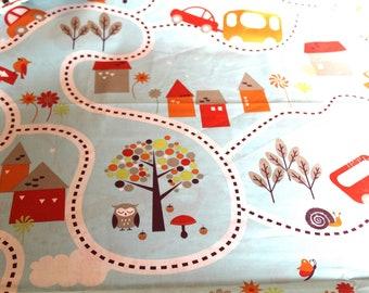 Cotton fabric roads 50x70cm